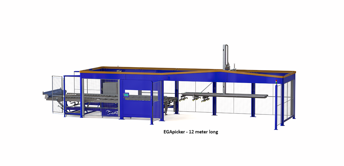 Palletizing robot 12 meter long - Egatec Packaging