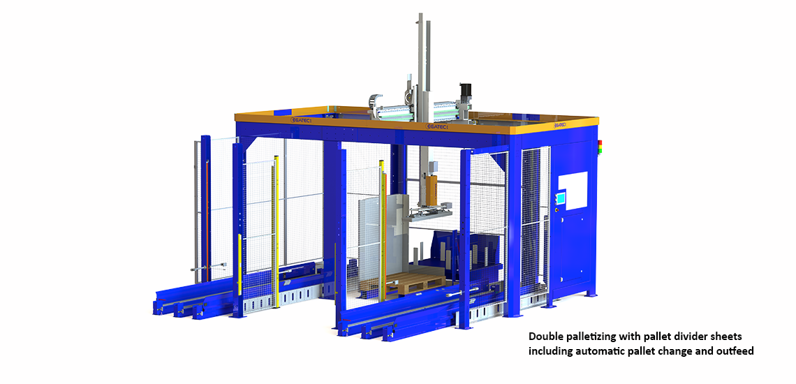 Palletizing robot with double palletizing- Egatec Packaging