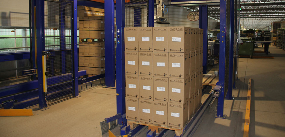 Packaging and palletizing at Rosborg Krydderurter A/S - Egatec Packaging Int.