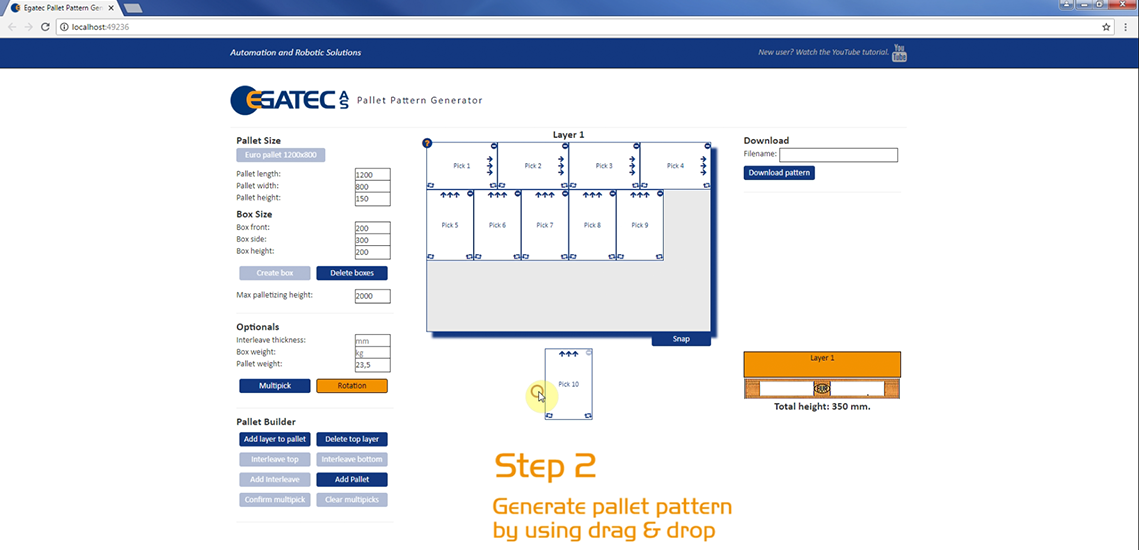 Pallet Pattern Generator - Egatec Packaging Int.